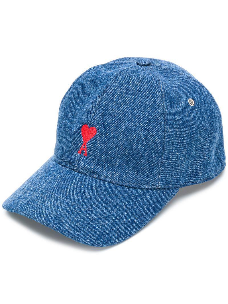 33a4156bdb9 Lyst - Ami Ami De Cœur Cap in Blue for Men