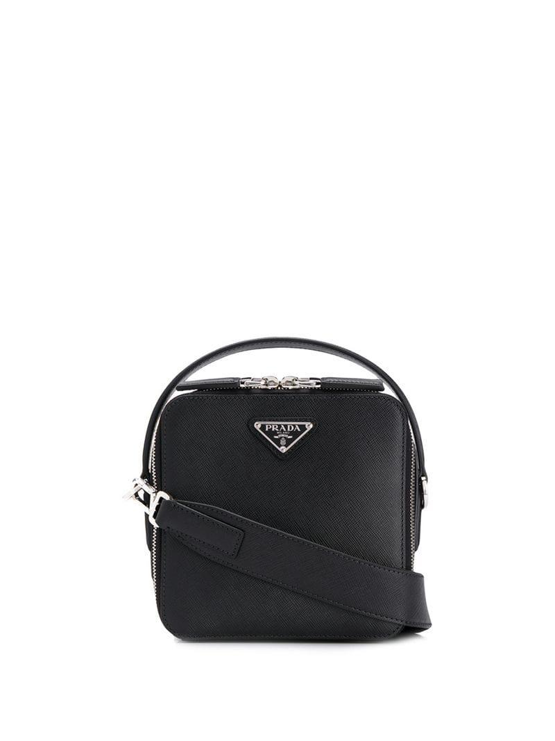 814e84cf0342 Prada - Black Brique Shoulder Bag for Men - Lyst. View fullscreen