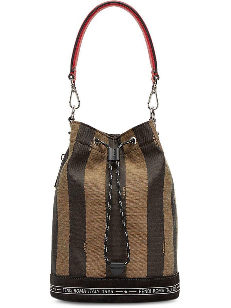 7d6d2fb411a3 Lyst - Fendi Mon Tresor Striped Bag in Brown for Men