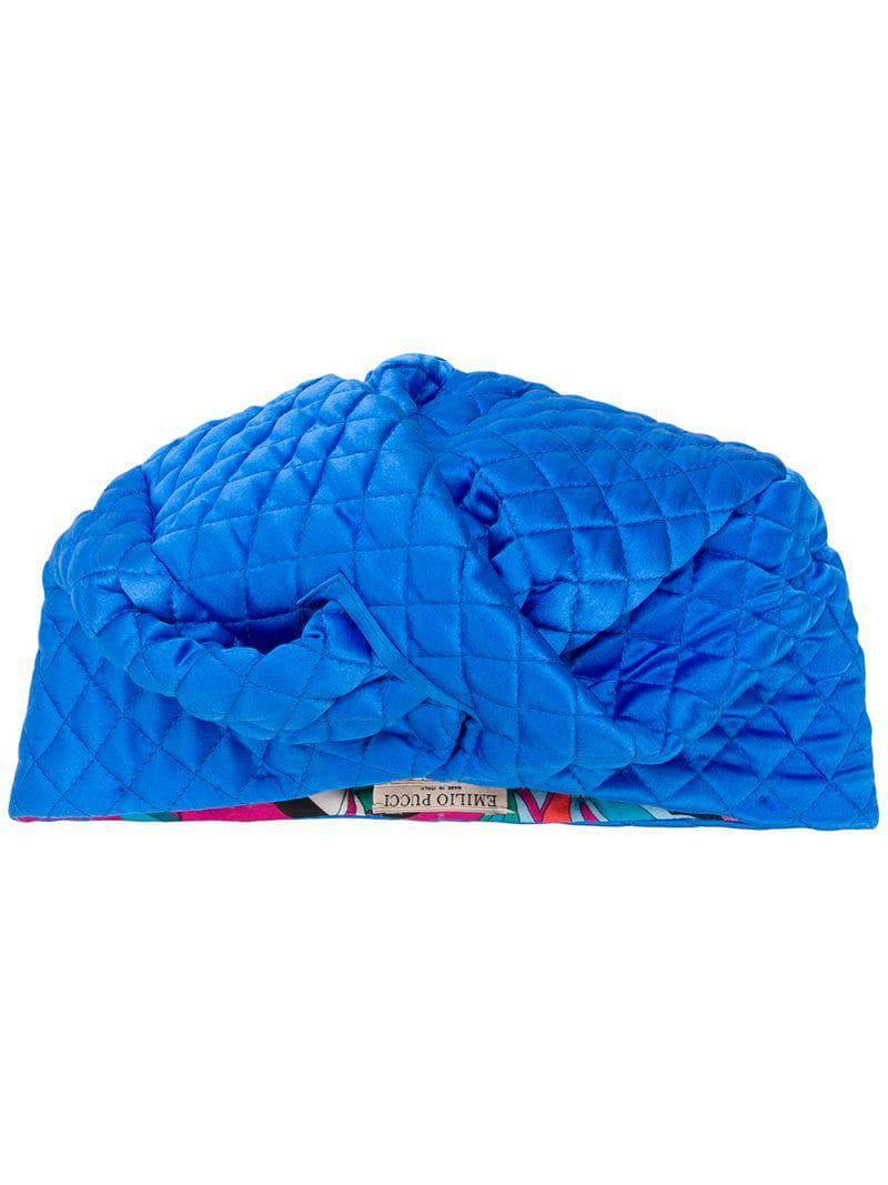 Emilio Pucci - Blue Twisted Front Turban - Lyst. View fullscreen 0e98ccedde25