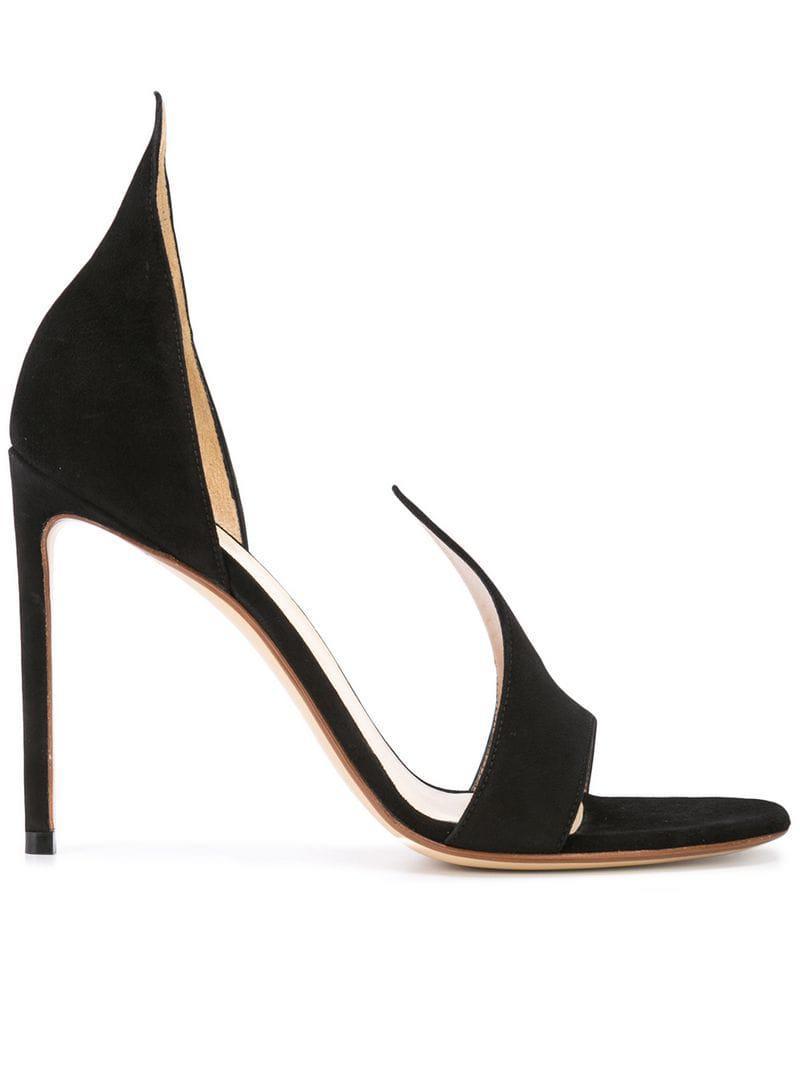 a9c20b886c80 Francesco Russo. Women s Black Suede Cut Court Shoes