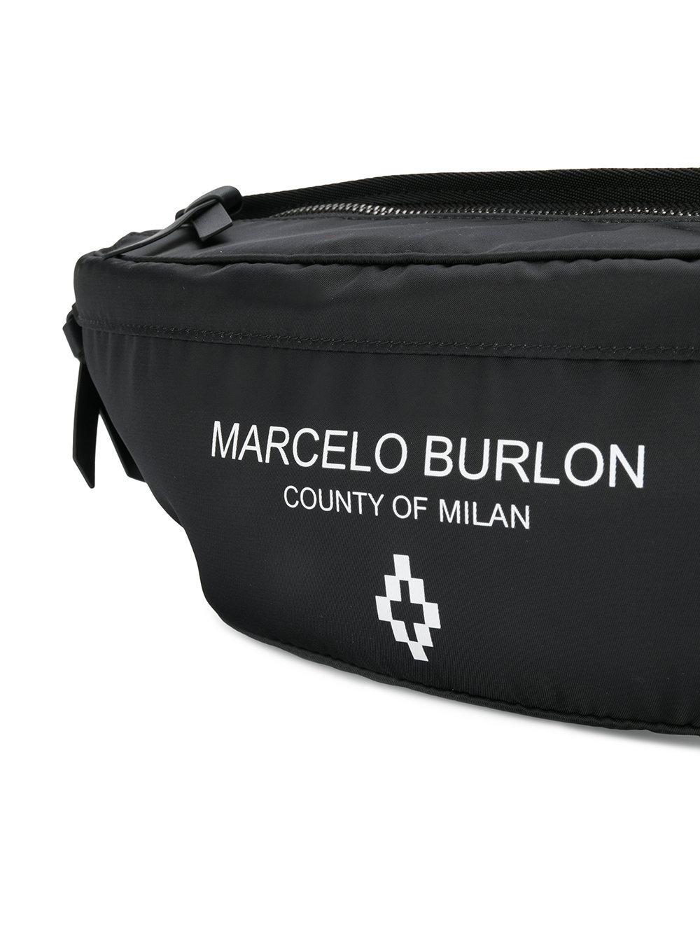 MARCELO BURLON COUNTY OF MILAN Sac banane à logo imprimé i03OmGoFXm