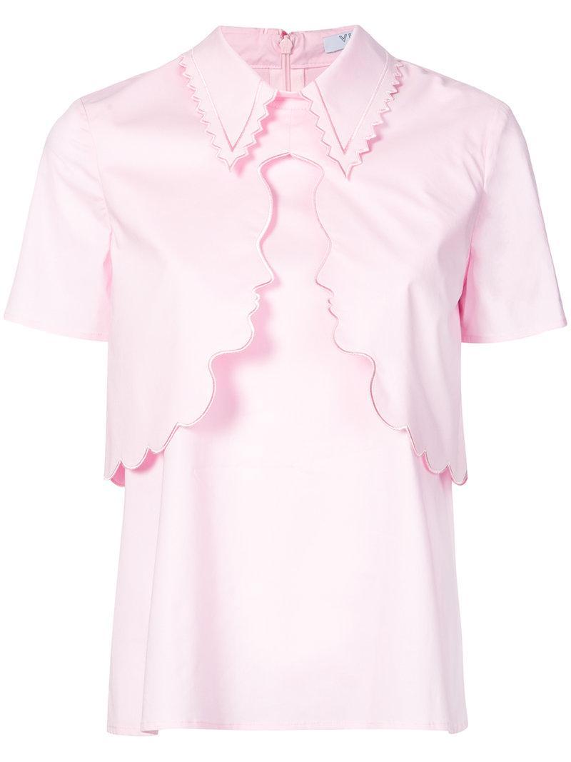 Stenella layered face shirt - White Vivetta Original Cheap Price k3iPi
