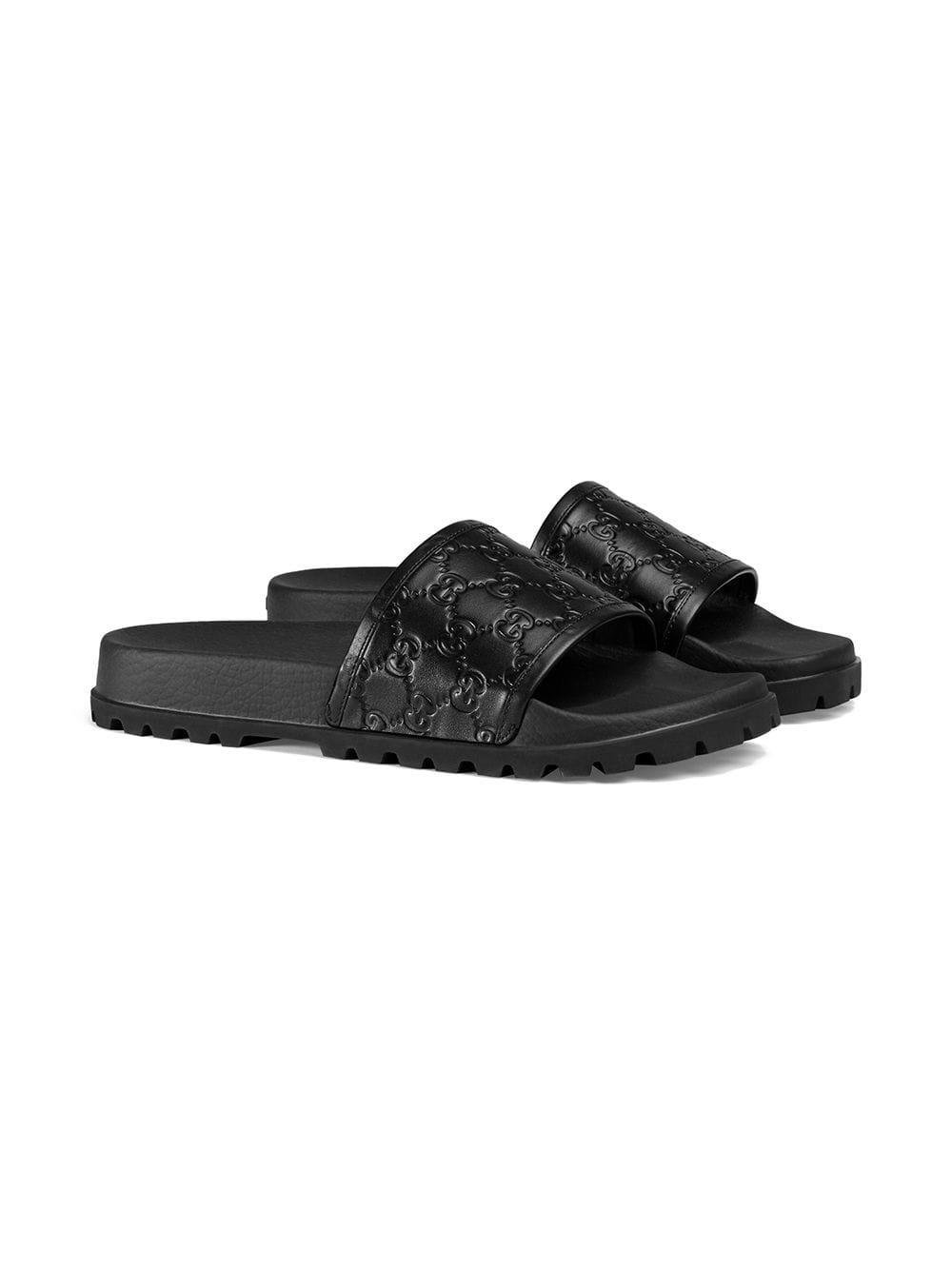 1df760c399c Gucci - Black Signature Slide Sandal for Men - Lyst. View fullscreen