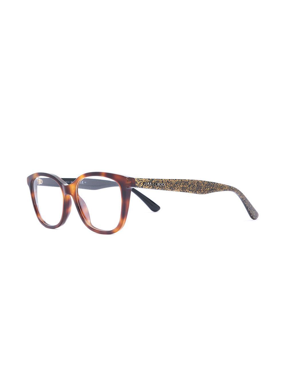 ca2d527c921 Jimmy Choo - Brown Tortoiseshell Glasses - Lyst. View fullscreen