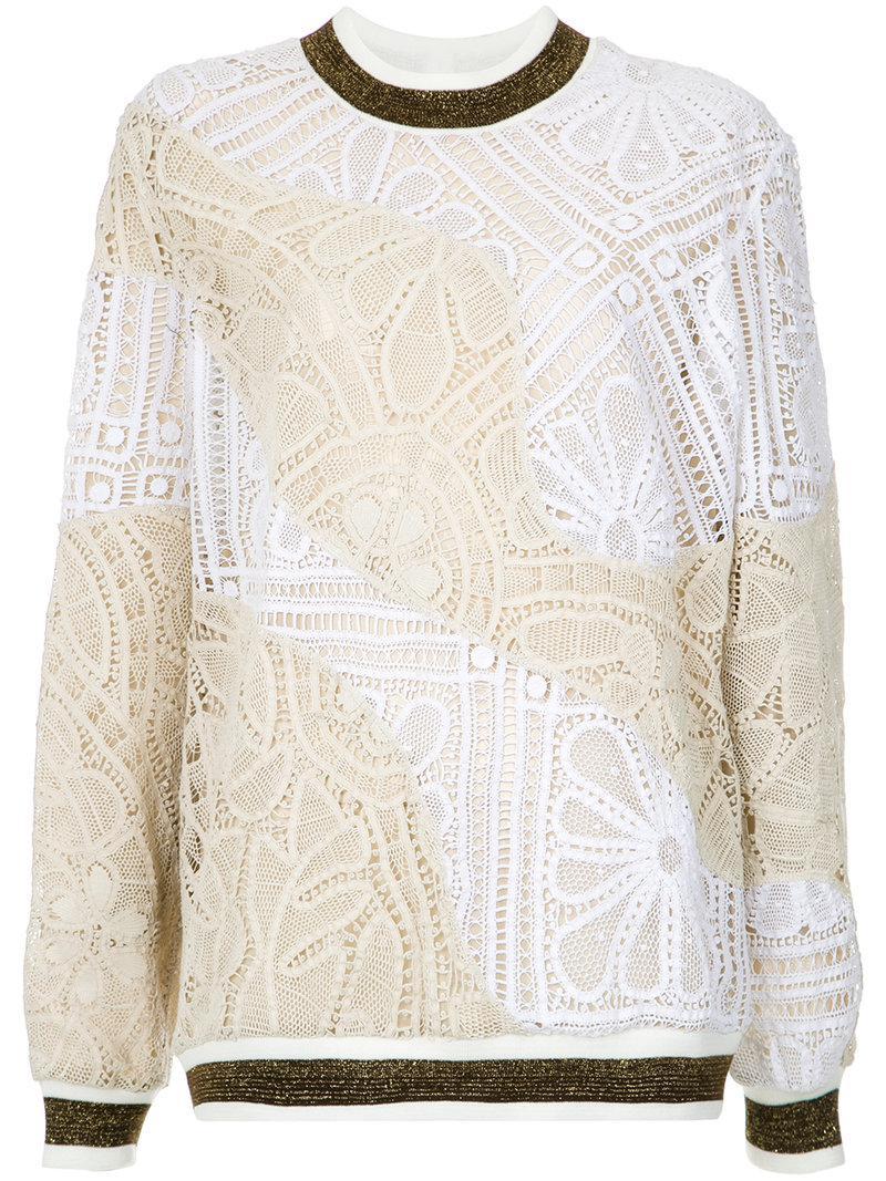 Marta lace jumper - Multicolour Martha Medeiros Amazon Sale Online Cheap Pre Order Fashionable Buy Cheap Price 29U1J