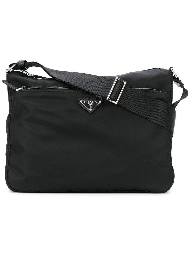 6607d008626e Prada - Black Nylon Messenger Bag - Lyst. View fullscreen