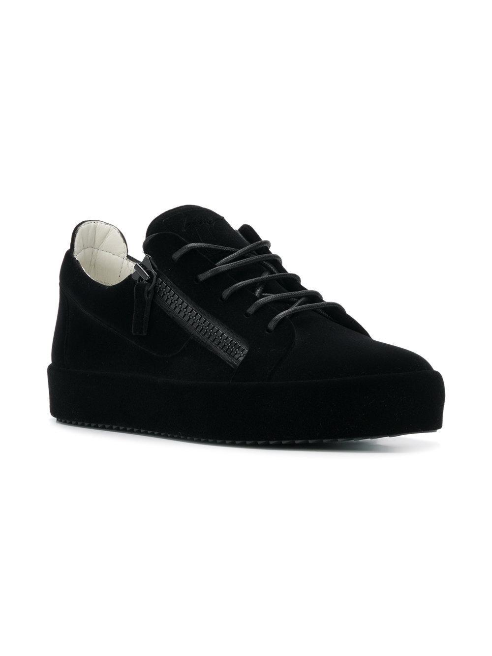 2073874f863 Lyst - Giuseppe Zanotti Double Sneakers in Black for Men