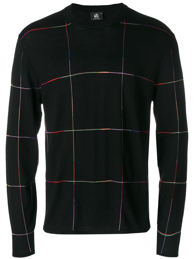 Cheap Sale New Arrival Fake checked jumper - Black Paul Smith Authentic Online Top Quality For Sale Cheap Sale Professional VUPeHwqmOb