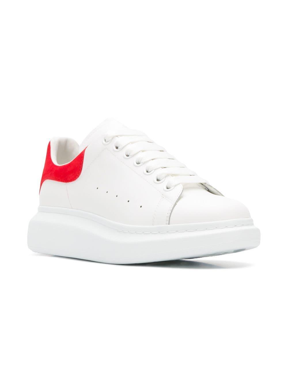 d4627610d12a Lyst - Alexander McQueen Heel Tab Wedge Sole Sneaker in White for Men -  Save 45%