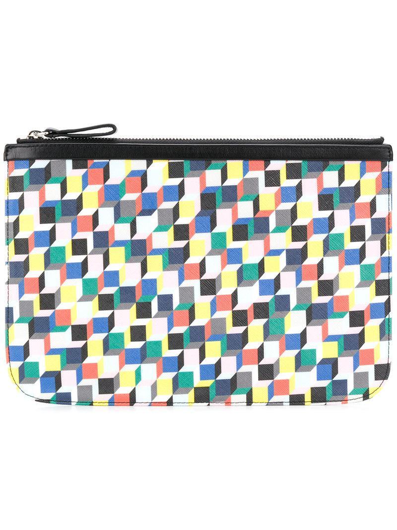 Sac D'embrayage Géométrique Imprimé - Multicolore Pierre Hardy bdXZLUoLOd