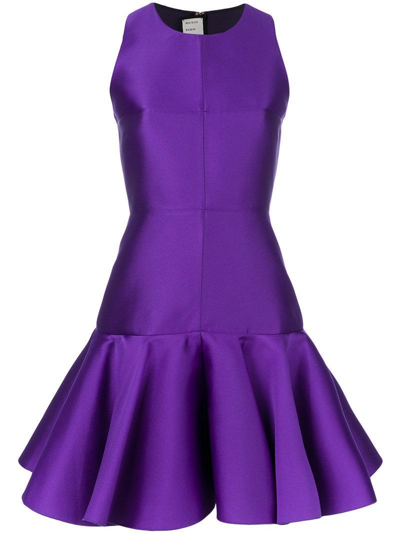 Lyst - Vestido con dobladillo peplum Maison Rabih Kayrouz de color ...