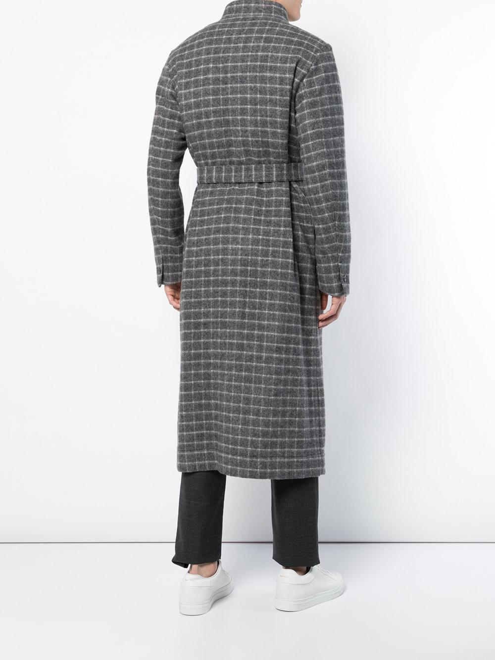 Lyst Coat Stephan Fullscreen View For Trench Schneider Belted Checked Men Gray qnw6AqPxO