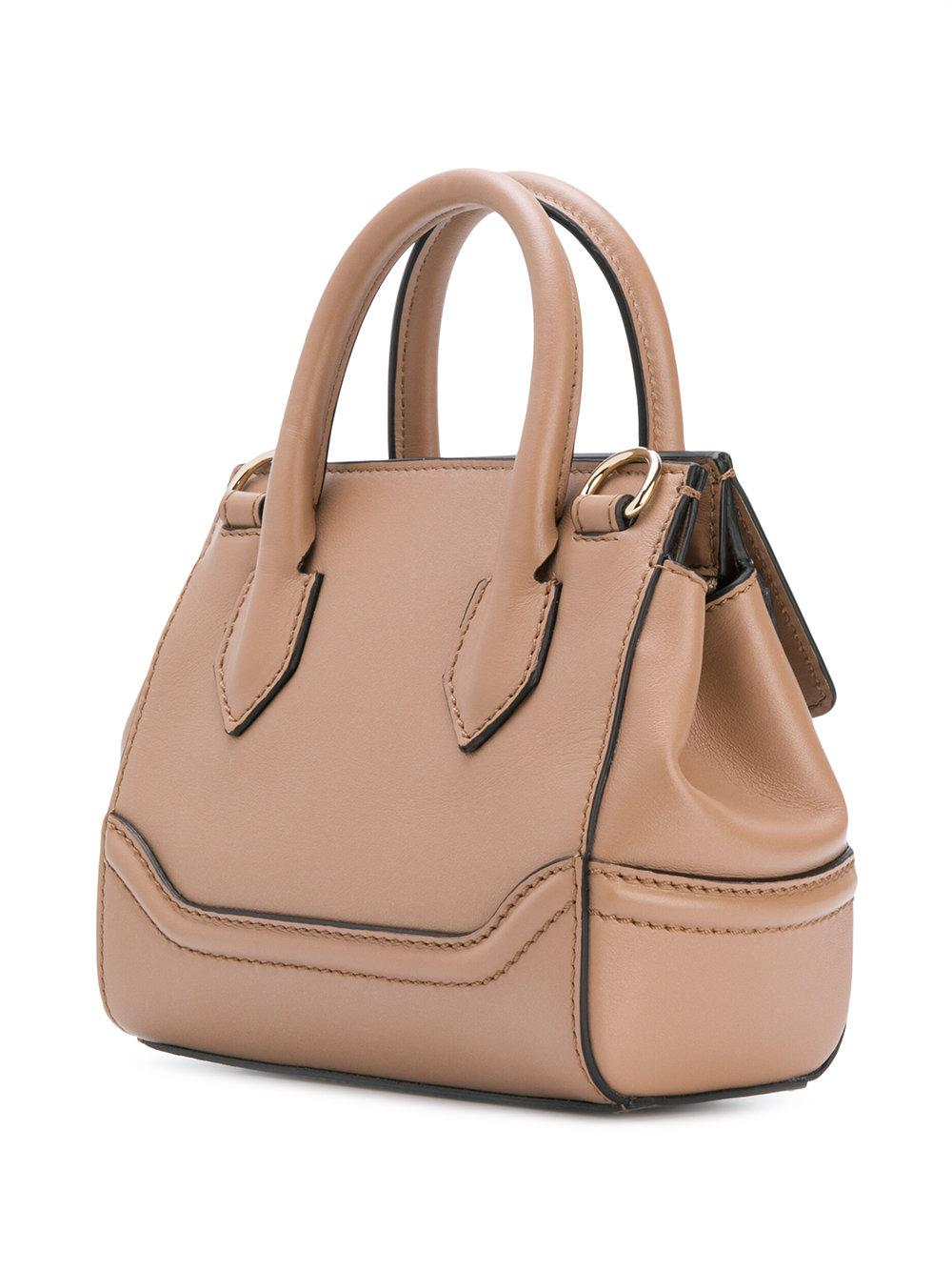 ab3a098b842c Lyst - Versace Medusa Empire Tote in Natural