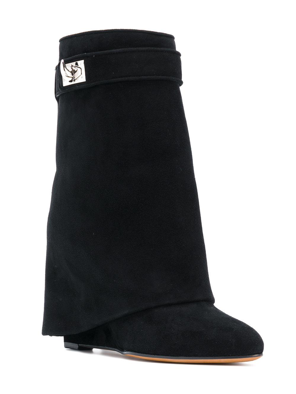 c72b26d99589 Givenchy - Black Shark Lock Boots - Lyst. View fullscreen