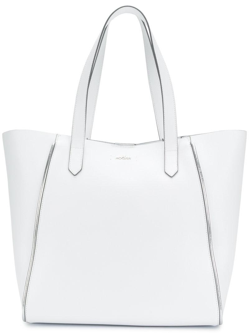 Hogan Tote Bag in White Light Canvas pn1KO6