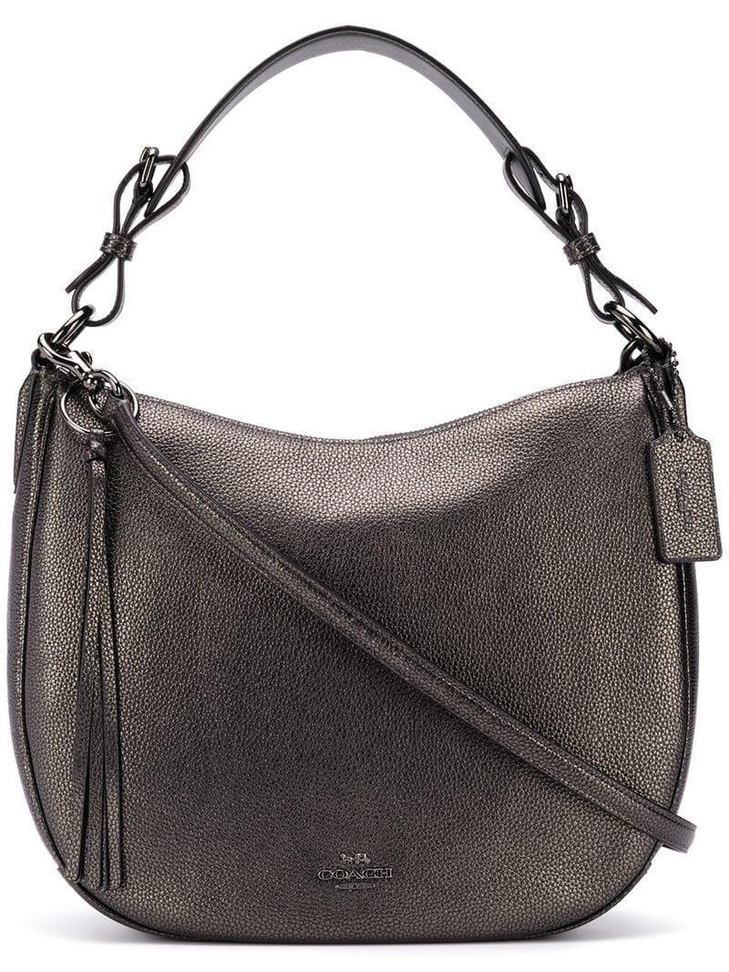 Coach Women S Metallic Mae Hobo Shoulder Bag