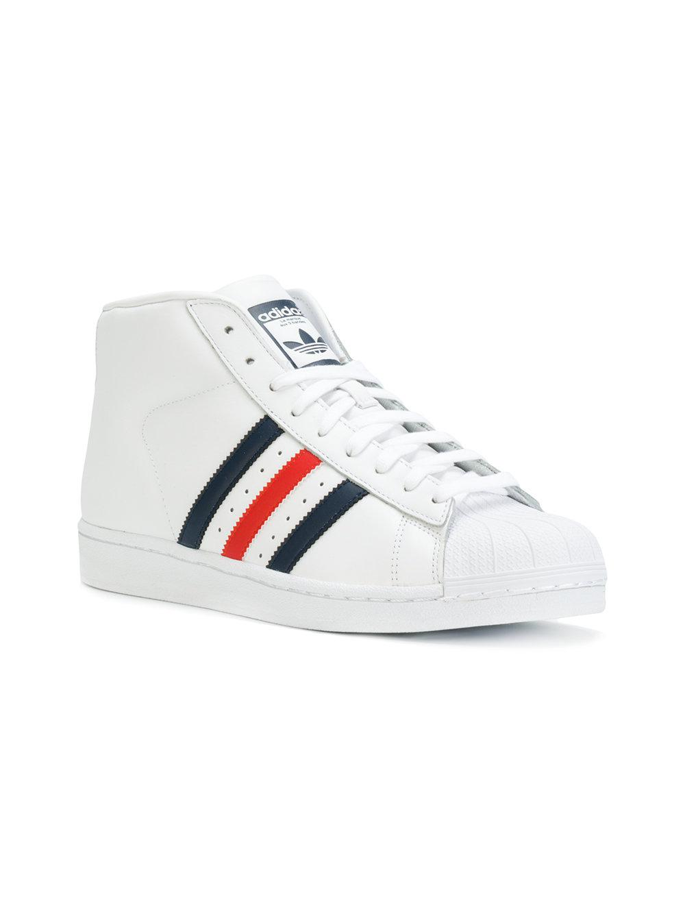 6b10efe4c8a6 Lyst - Adidas Lace-up Hi-top Sneakers in White for Men