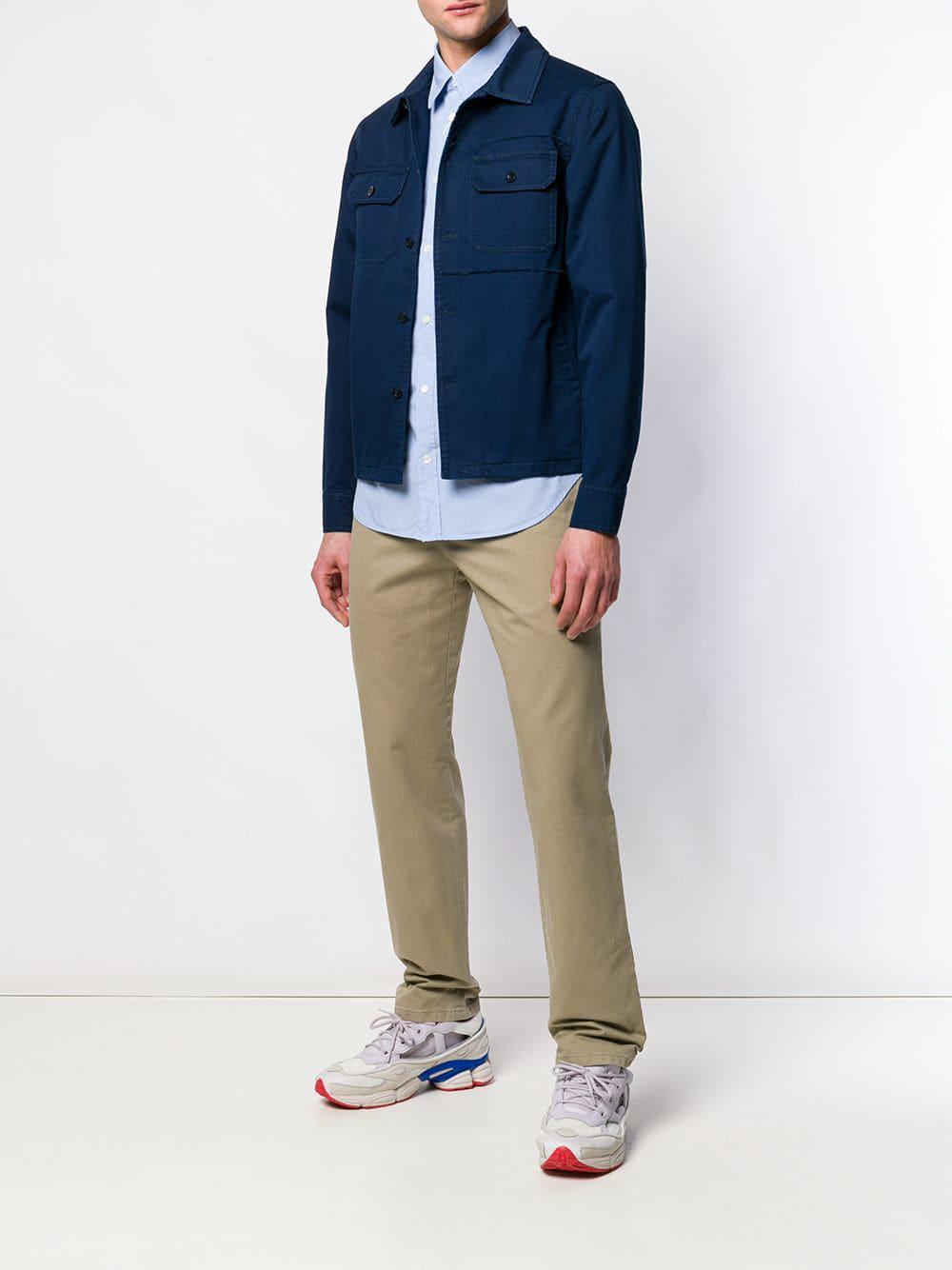 4e7438d1058c Lyst - Maison Margiela Denim Button Down Shirt in Blue for Men