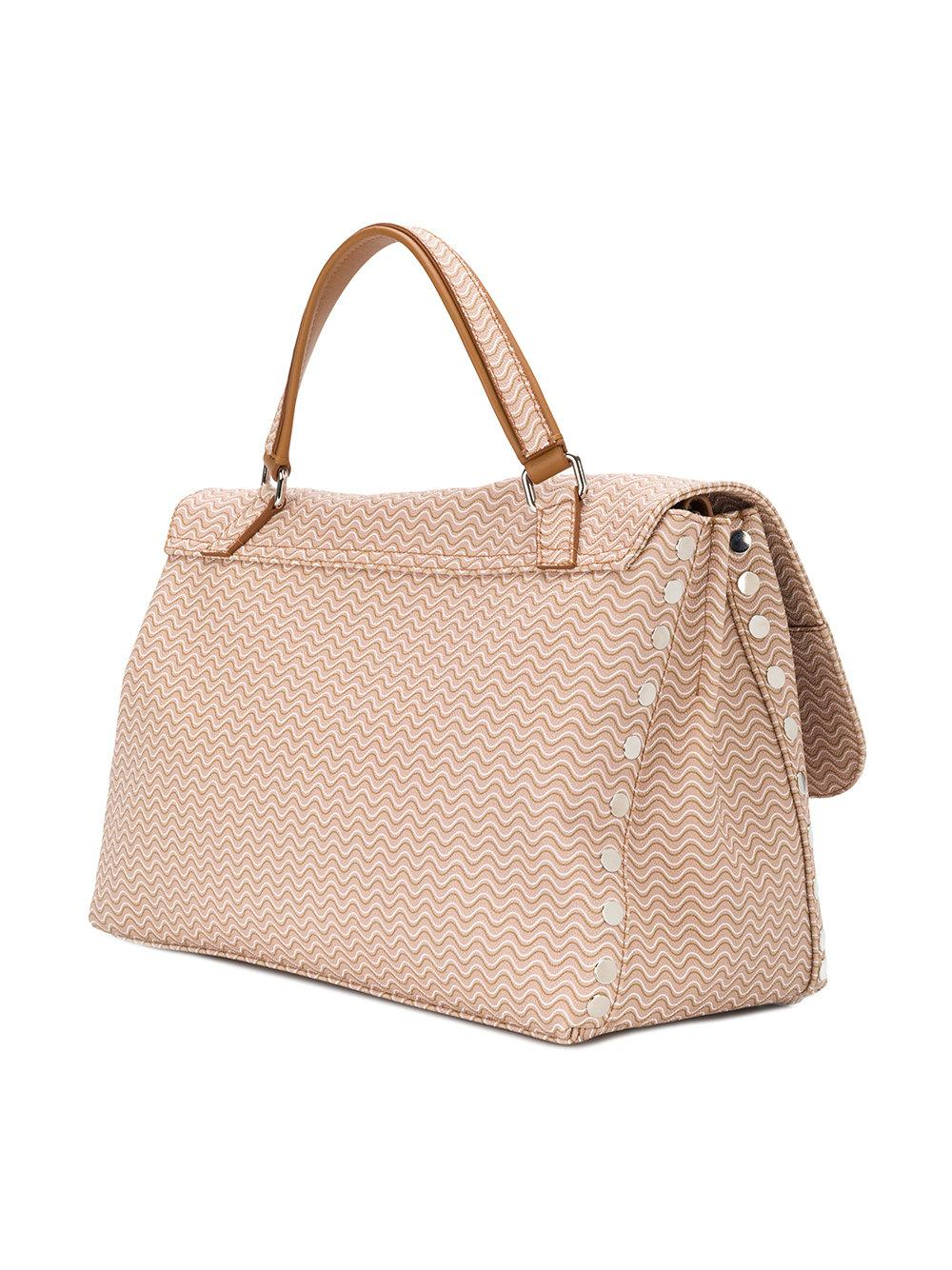 printed twist-lock tote - Nude & Neutrals Zanellato Red Pre Order Eastbay Outlet Top Quality Sale Best Sale Professional Sale Online Cheap Sale Discount TlUKI