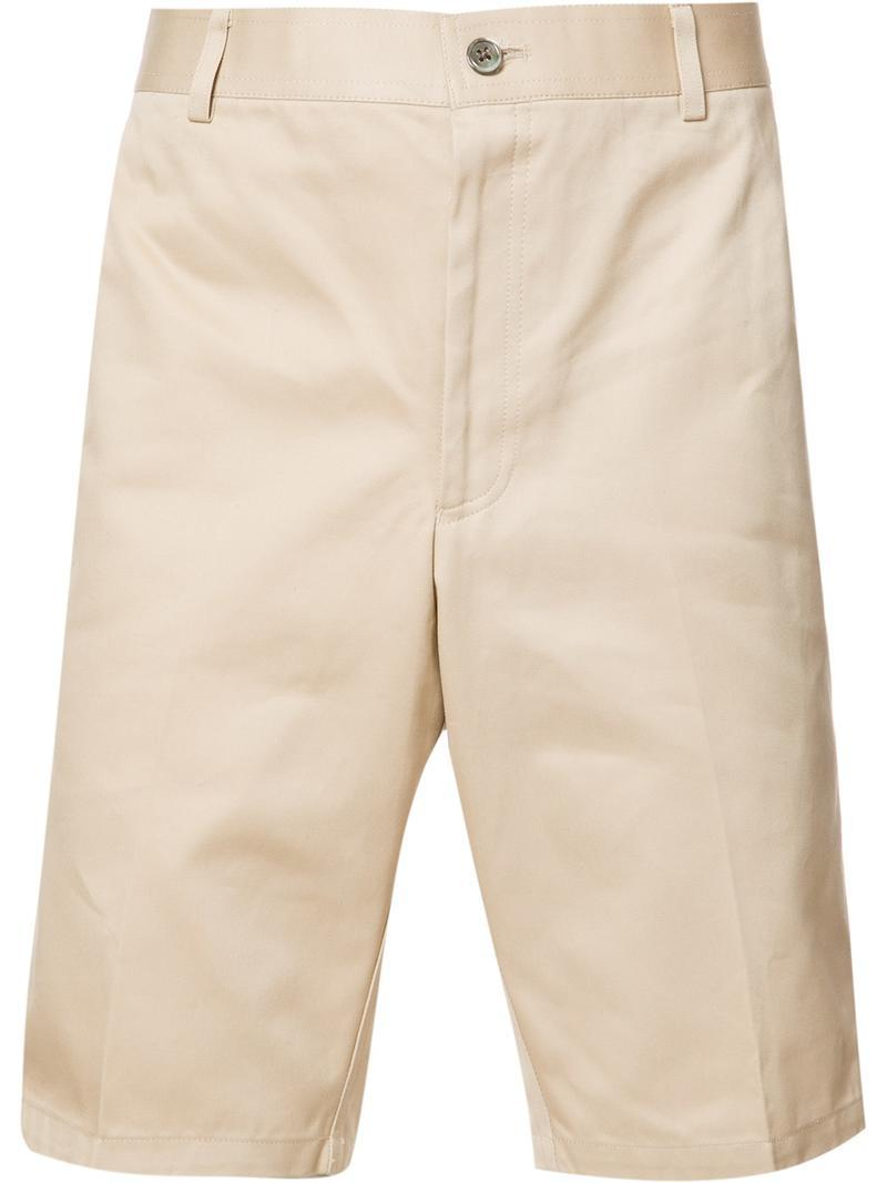 Chino Short In Khaki Cotton Twill - Nude & Neutrals Thom Browne