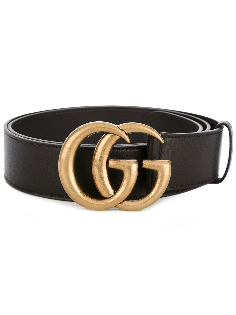 813ac5af6 Lyst - Gucci Double G Buckle Belt in Brown for Men