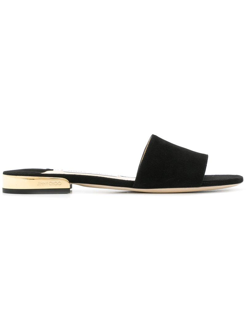03b6c119639c Jimmy Choo - Black Joni Sandals - Lyst. View fullscreen