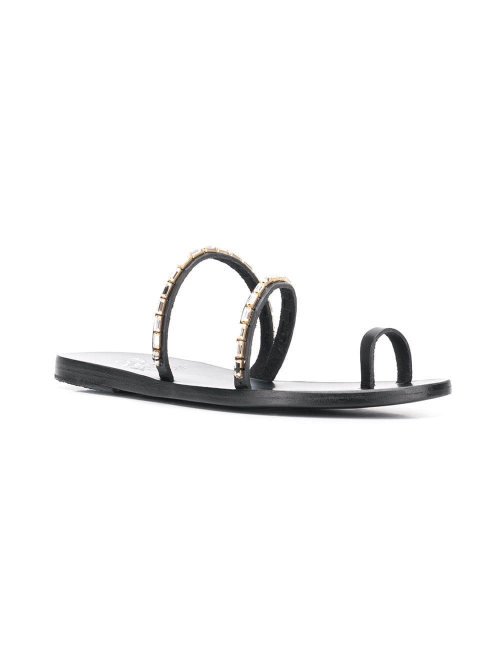 9139ed55f Ancient Greek Sandals - Black Apli Katia Diamond Sliders - Lyst. View  fullscreen