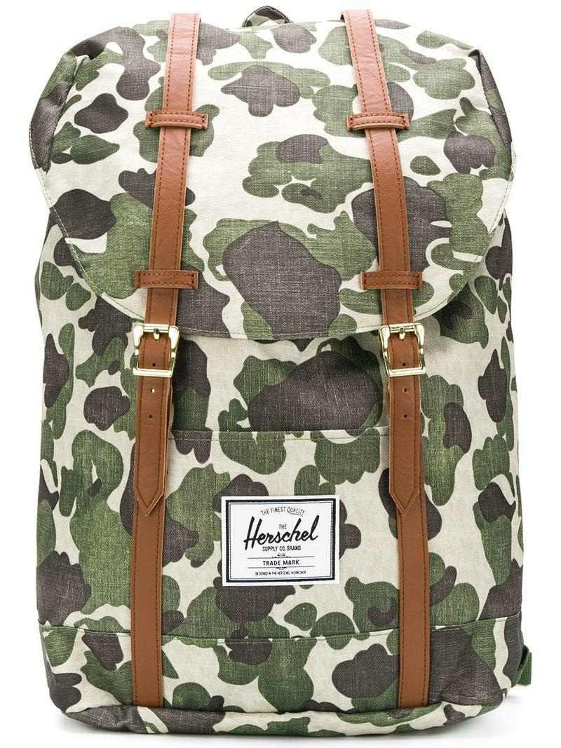 a55ceba0c1b Lyst - Herschel Supply Co. Camouflage Print Backpack in Green for Men
