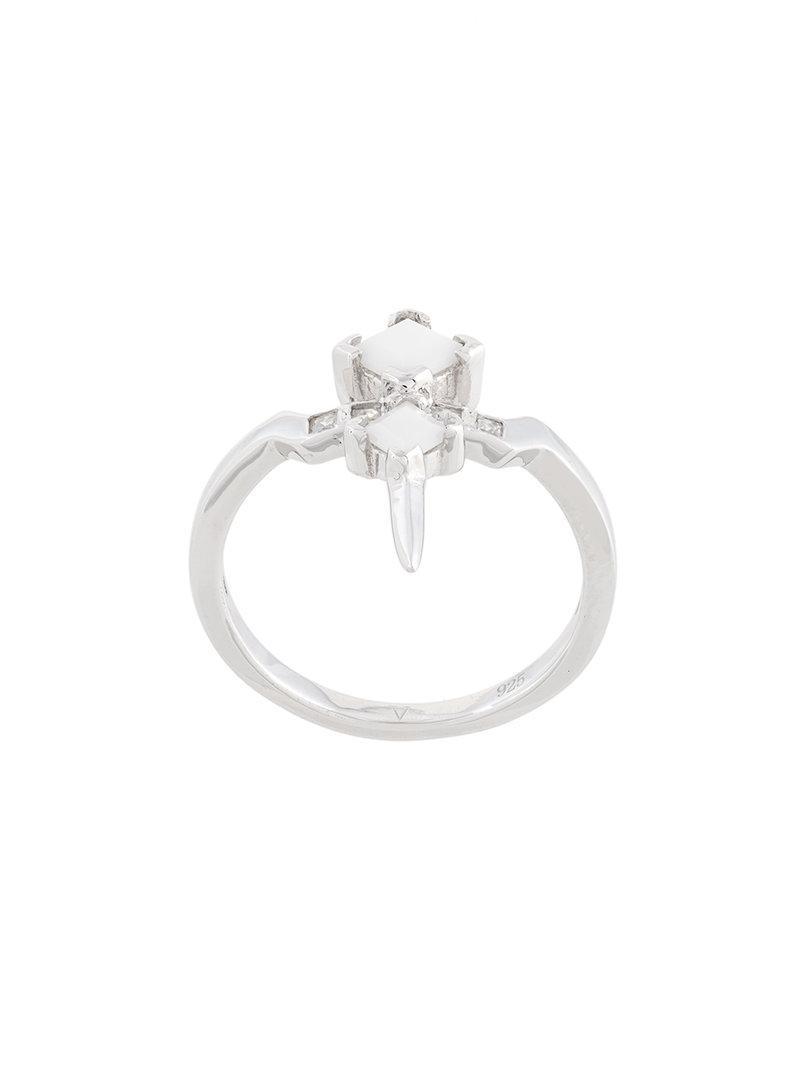 V JEWELLERY Elodie ring - Metallic fSBZ2m3v