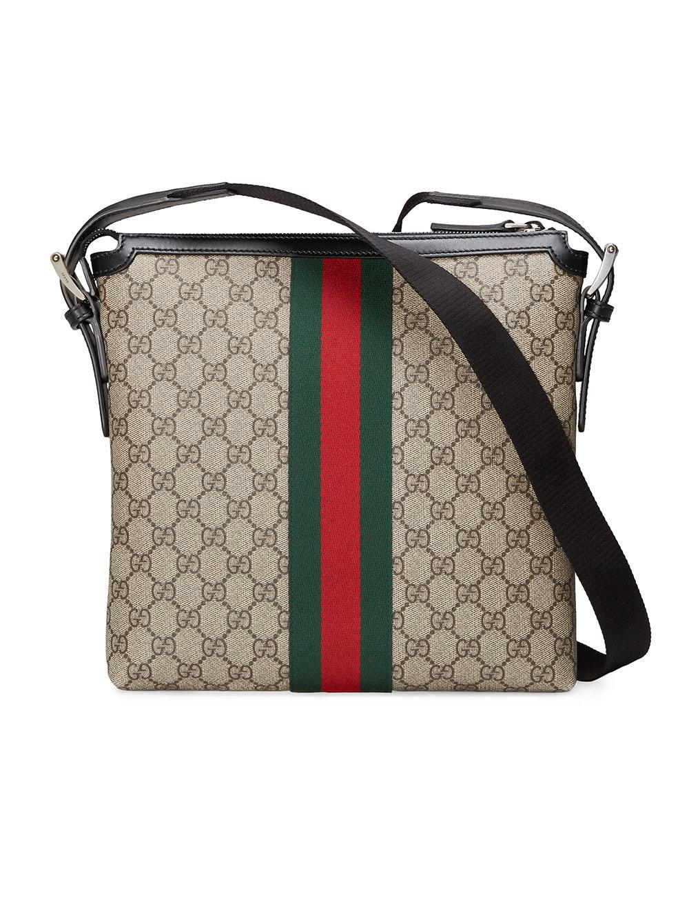 1fa18637ab Sacoche GG Supreme Gucci pour homme en coloris Marron - Lyst