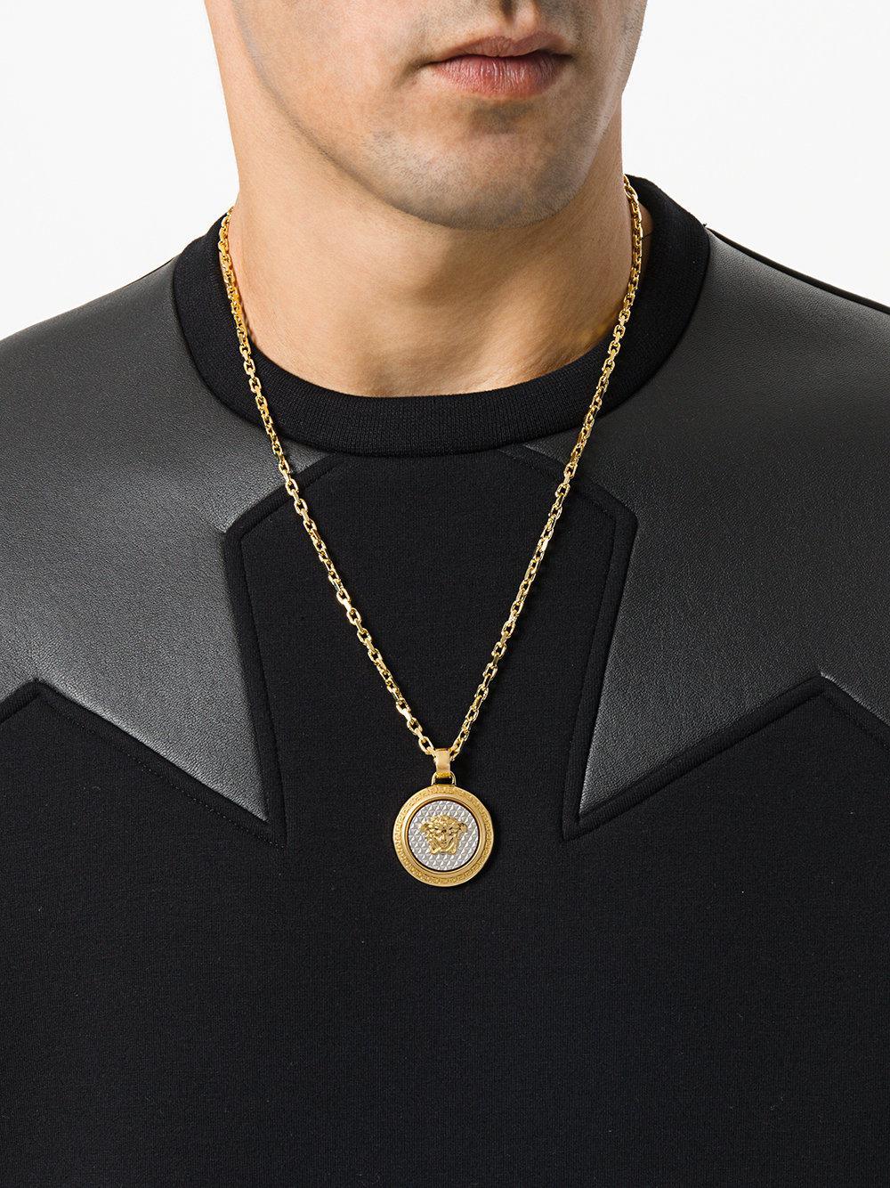 eb0cfeeeb6fa75 Versace Medusa Pendant Necklace in Metallic for Men - Lyst