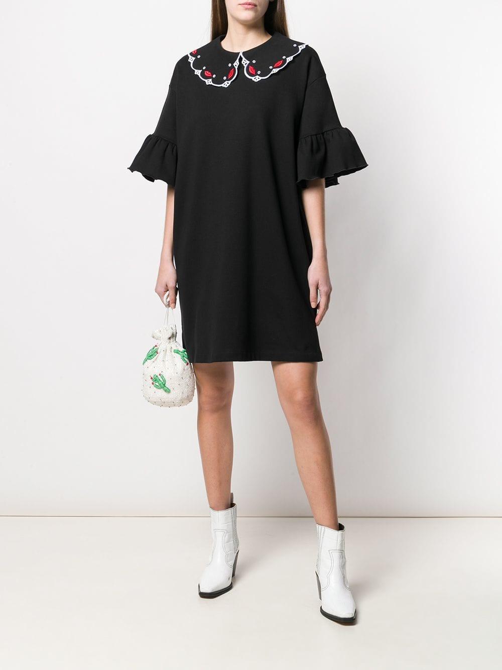 In Lyst Fanov Black Dress Vivetta T3KFc1Jl