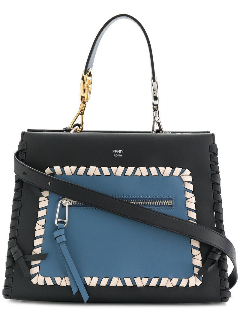 64e1b4386358 Lyst - Fendi Runaway Tote Bag in Blue