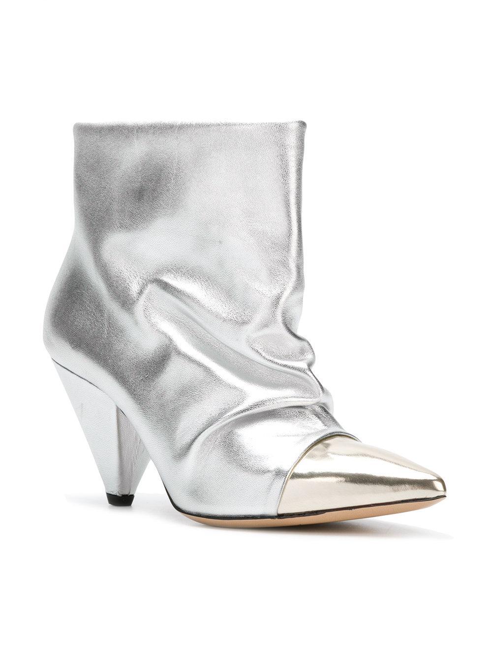 contrast-toe pointed boots - Metallic Marc Ellis QGqIad2J