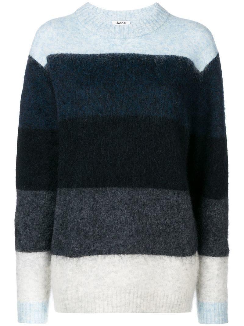 eba7b86572c2 Acne Studios Albah Striped Sweater in Blue - Save 37% - Lyst