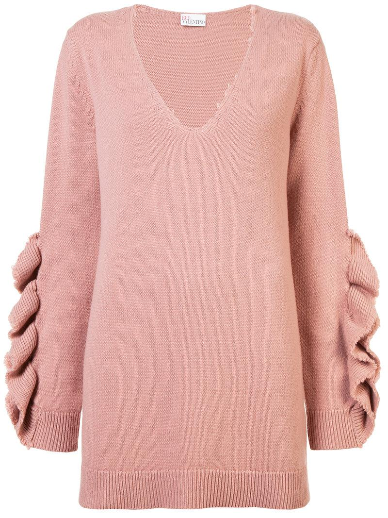 Red Valentino ruffled appliqué jumper Limited Edition Sale Online lJbxgE
