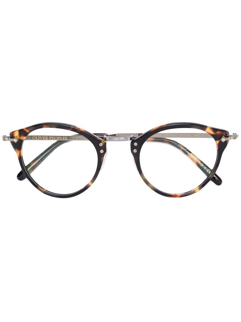 Lyst - Oliver peoples Turtle Print Glasses in Brown for Men - Save 18%
