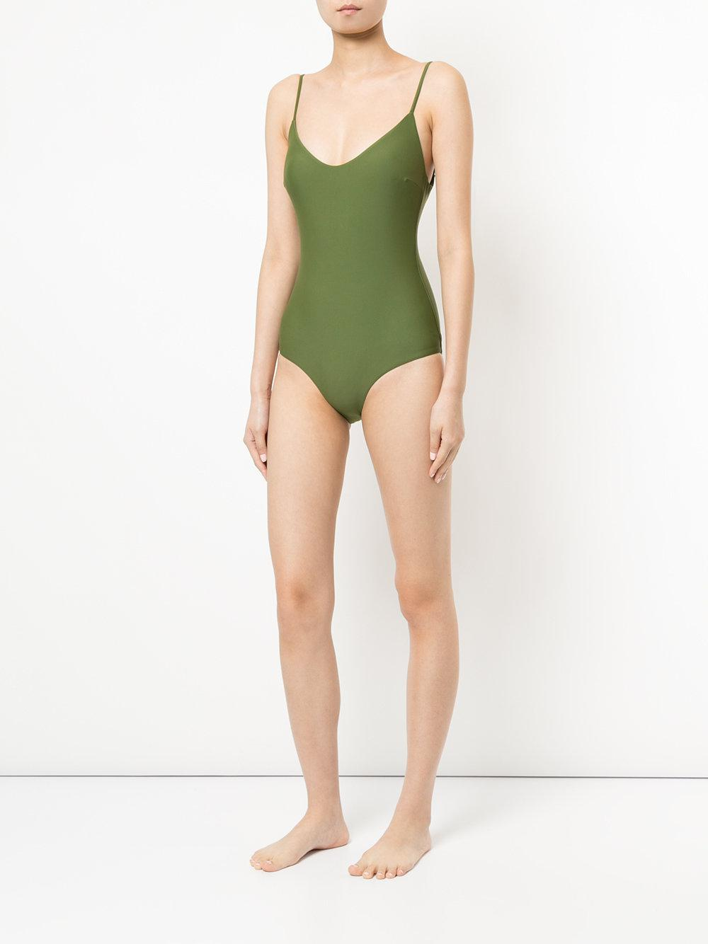 f80b573909 Lyst - Matteau The Scoop Maillot Swimsuit in Green