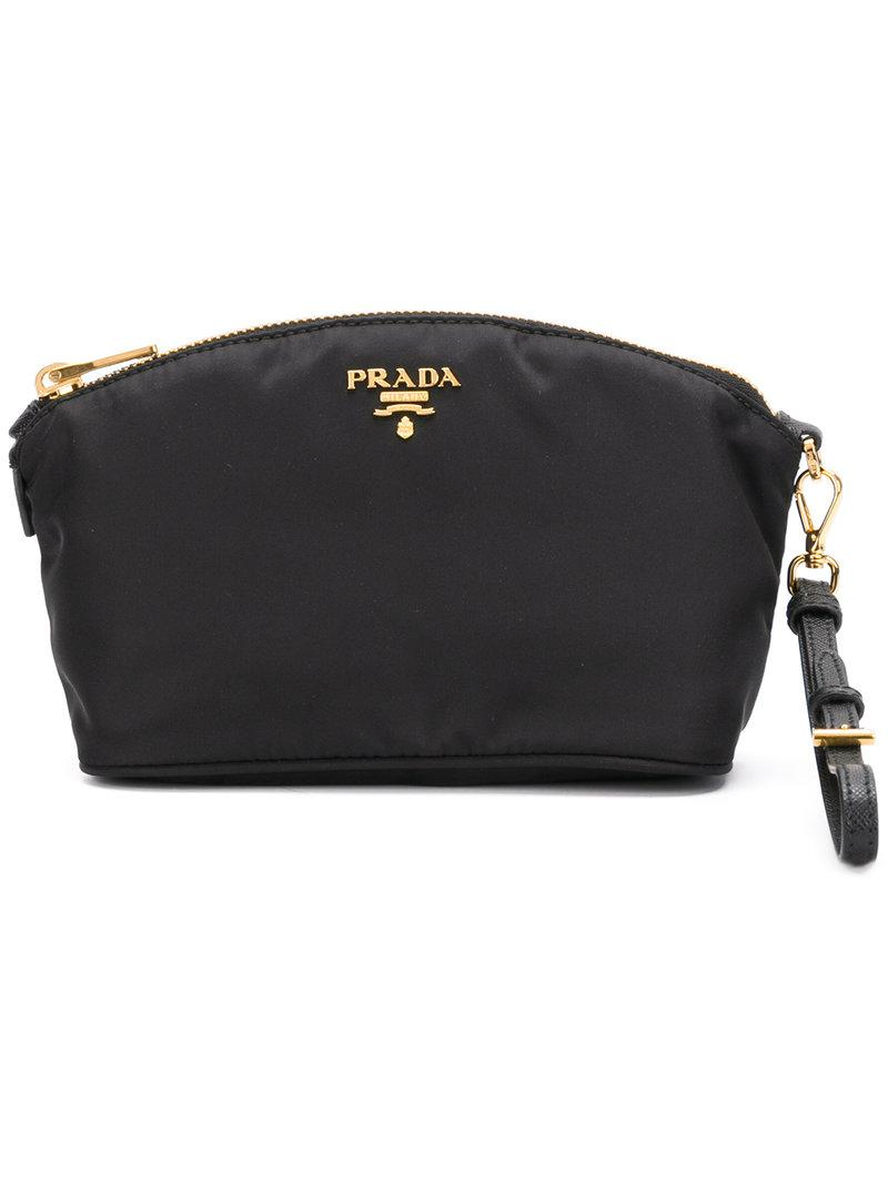 0afc169c816f Prada - Black Vela Wrist Pochette - Lyst. View fullscreen