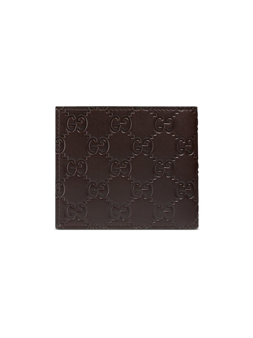 0028ca5d74ca Gucci Portafoglio in Brown for Men - Save 5% - Lyst