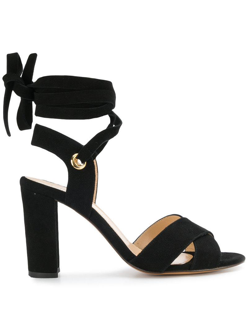ankle tie Cancun sandals - Black Tila March CAU6yyZ