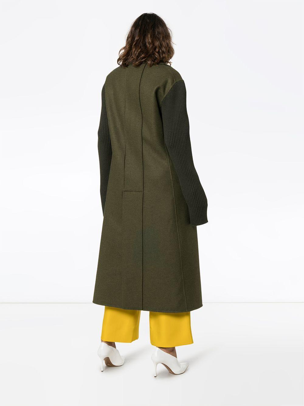 Green Coat Marni in Sleeve Lyst Wool Ribbed xpwWq8W1B7