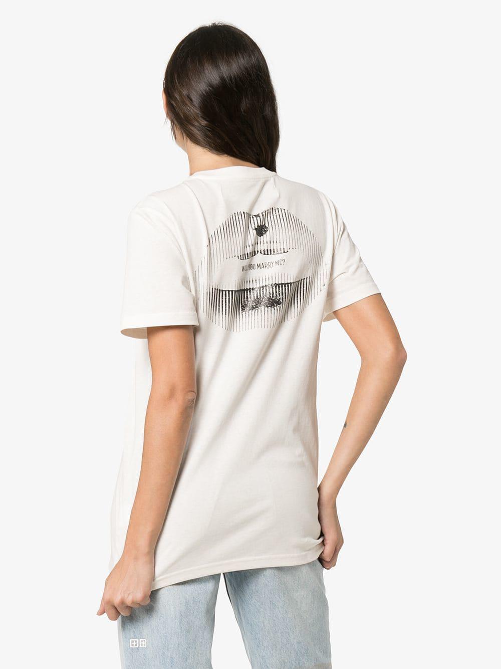 b7037e5ace07 Lyst - Off-White C O Virgil Abloh Logo Short-sleeve T-shirt in White