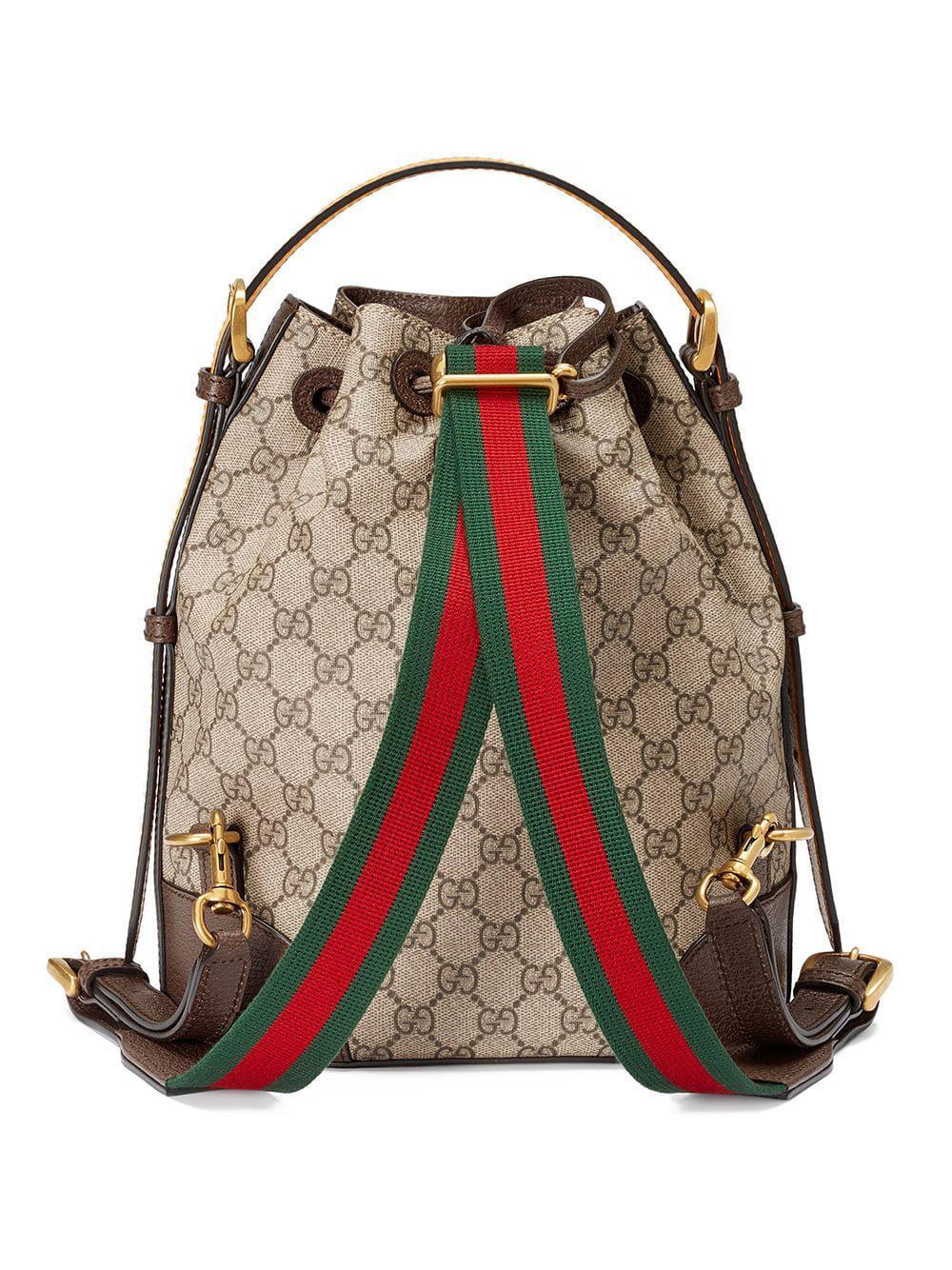 85b776bdde27 Gucci GG Supreme Backpack in Brown - Lyst
