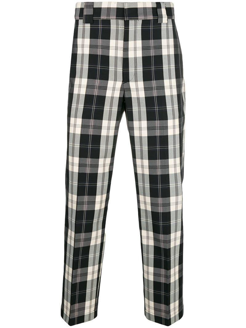 c9e956698 Pantalones a cuadros MSGM de hombre - 15 % de descuento - Lyst