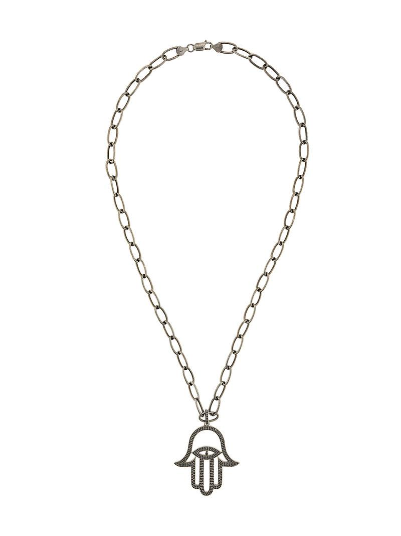 Monan OMG! pendant necklace - Metallic fpoL7ZNcN7