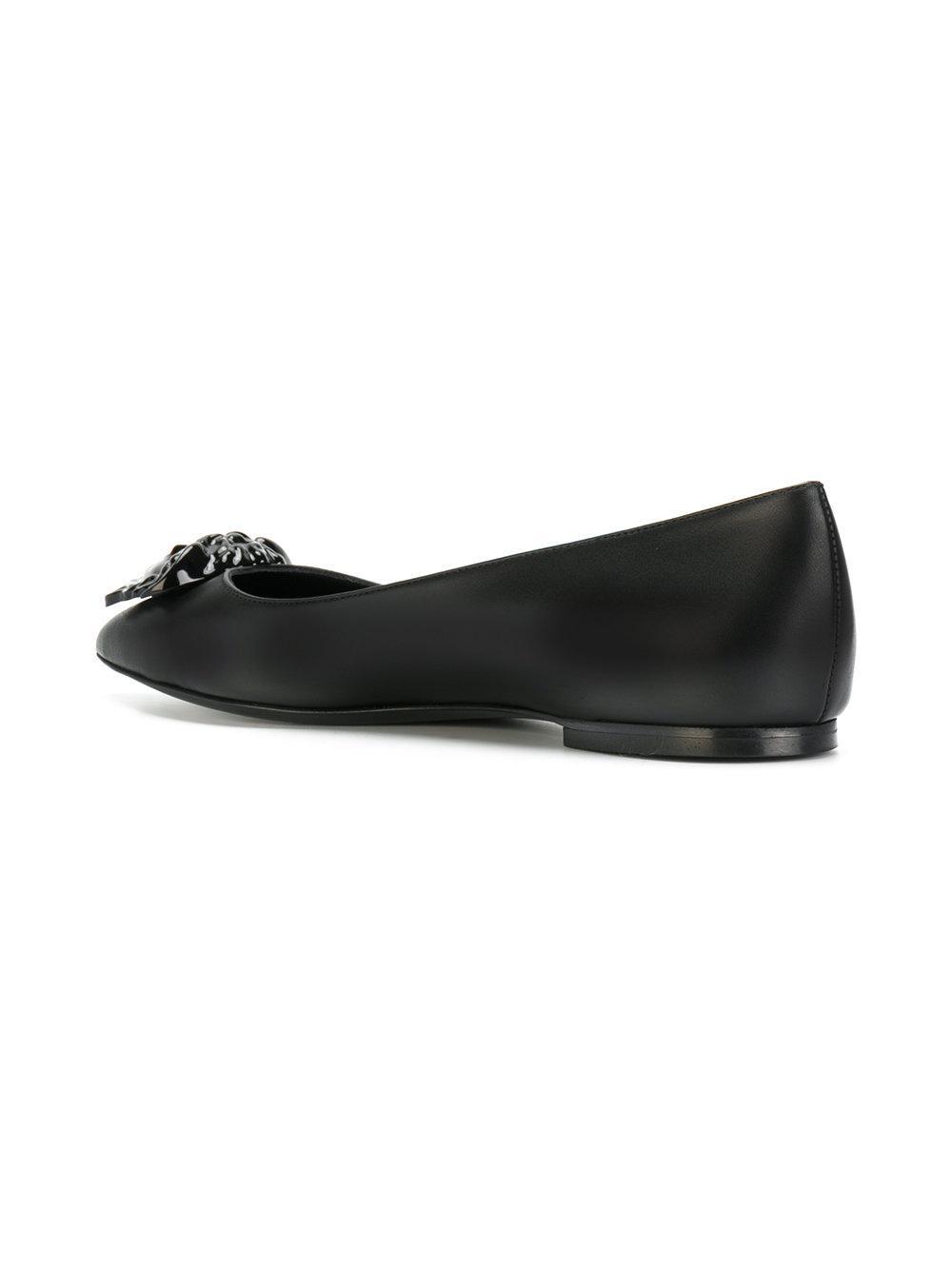 cbbb60010a4 Lyst - Versace Medusa Palazzo Ballerina Shoes in Black