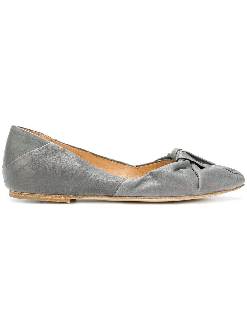 INK Draped ballerina pumps h9epF