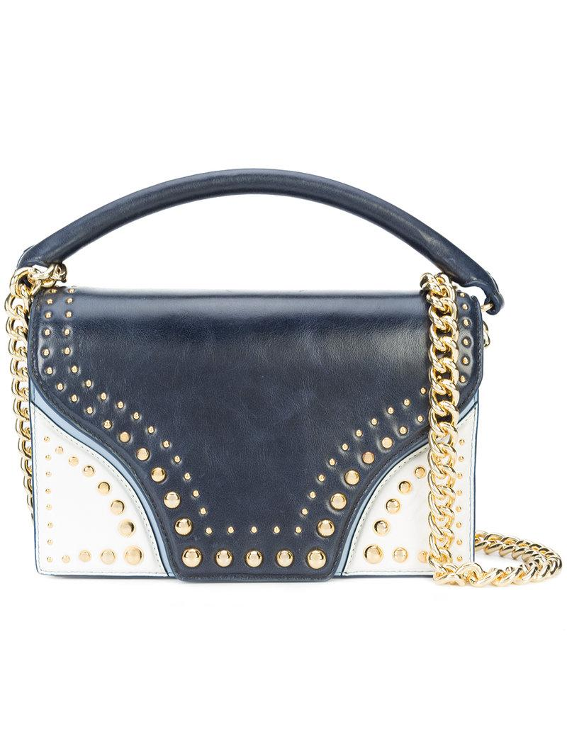 studded shoulder bag - Blue Diane Von F zv897